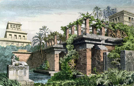 Artistic rendering of ancient Babylon