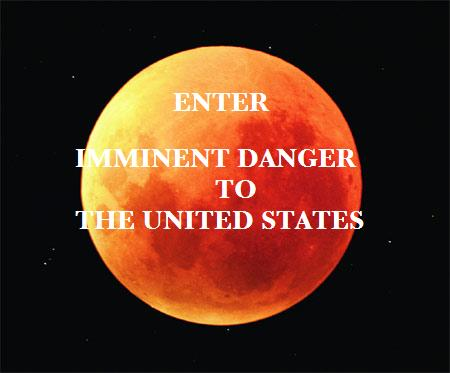 Enter Imminet Danger to The United States title displayed on a black sky with large red full moon